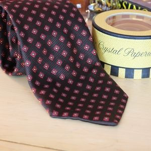 Michele Sartori Geometric Woven Silk Tie